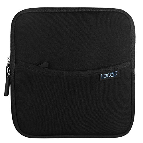 Lacdo Shockproof External USB CD DVD Writer Blu-Ray & External Hard Drive Neoprene Protective Storage Carrying Sleeve Case Pouch Bag With Extra Storage Pocket for Apple MD564ZM/A USB 2.0 SuperDrive / Apple Magic Trackpad / SAMSUNG SE-208GB SE-208DB SE-218GN SE-218CB / LG GP50NB40 GP60NS50 / ASUS External DVD Drives Black