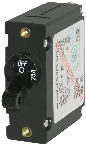 Blue Sea Systems 7216 AC/DC Single Pole Magnetic World Circuit Breaker