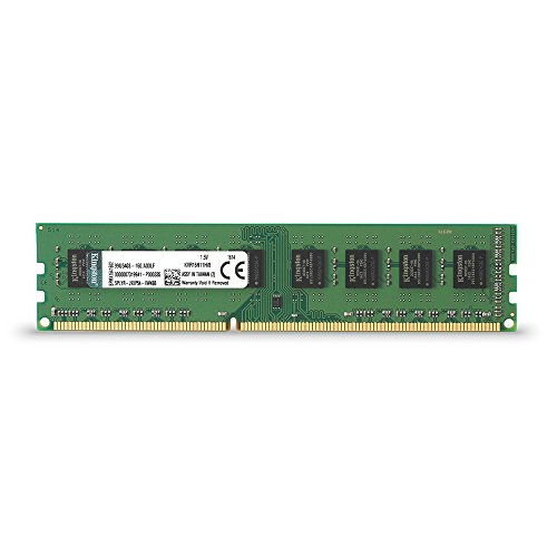 Kingston ValueRAM 8GB 1600MHz DDR3 Non – ECC CL11 DIMM STD Height 30mm Desktop Memory KVR16N11H/8