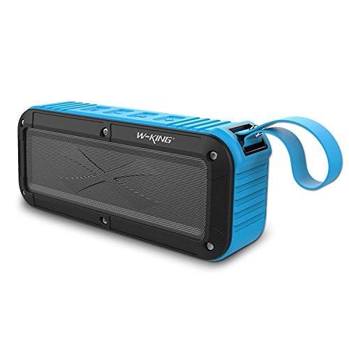 Aulker Bluetooth Wireless Speaker Portable Speaker Waterproof Bluetooth V4.0 FM Radio Small Size Useful Home Docking Speaker Shower OK IPX6 Water Resistant Dustproof Shockproof – Blue