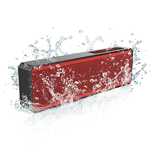 Portable Bluetooth Speaker, marsboy Subwoofer Wireless Shower Waterproof Speaker, Wireless Hand-free Bluetooth Speaker, Dual-Driver Stereo Bluetooth Speakers, for iPhone iPad, Samsung, Tablets