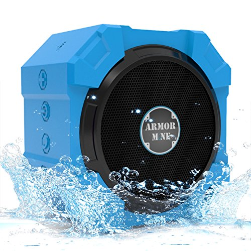 ARMOR MiNE Waterproof Bluetooth Wireless Speaker for Smartphone – Brilliant Blue