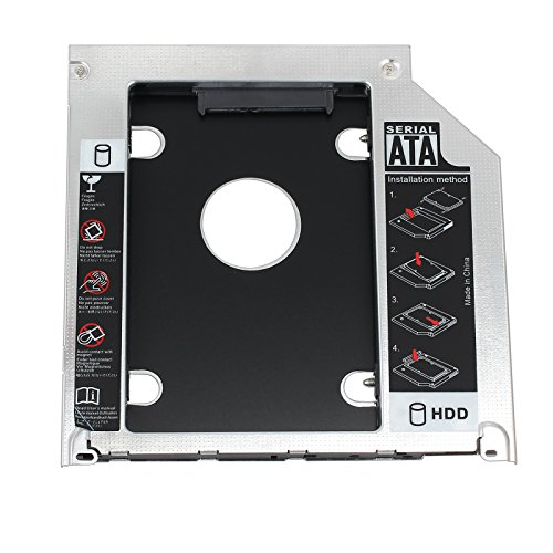 Proster 2.5″ SATA Hard Drive Caddy Tray SSD HDD Hard Disk Internal for Apple MacBook Pro Unibody 13 15 17 SuperDrive DVD Drive