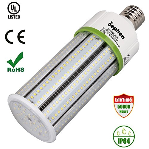 Corn Led Light,Dephen 5000K Led Corn Bulb 60W400 Watt Replacement Screw Base E26 High Bay Metal Halide HPS Retrofit Kits 360 Degree Street Area LightingIP64