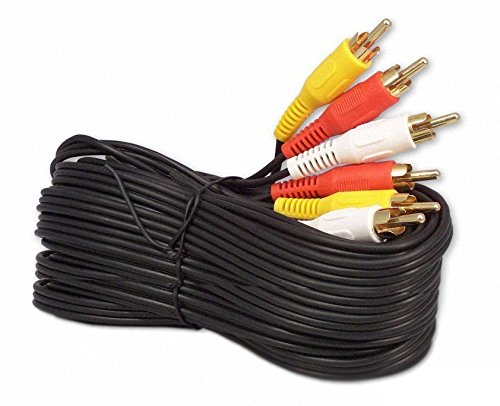 25Ft RCA M/Mx3 Audio/Video Cable Gold Plated – Audio Video RCA Cable 25ft