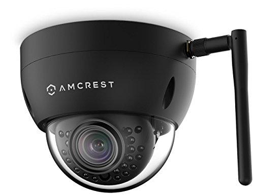 Amcrest ProHD Fixed Outdoor 3-Megapixel 2304 x 1296P Wi-Fi Vandal Dome IP Security Camera – IP67 Weatherproof, IK10 Vandal-Proof, 3MP 1080P/1296P, IP3M-956B Black