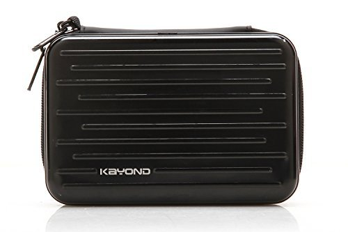 KAYOND Anti-shock Silver Aluminium Carry Travel Protective Storage Case Bag for 2.5″ Inch Portable External Hard Drive HDD USB 2.0/3.0 Black