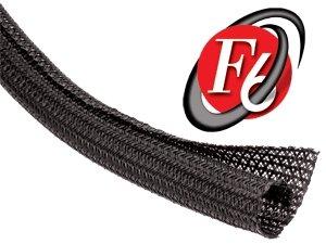 20 Feet – TechFlex F6N0.25BK Flexo F6 General Purpose 1/4-inch Braided Cable Sleeve, Black