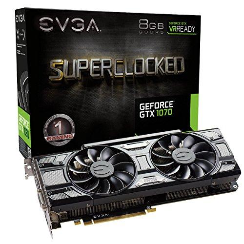 EVGA GeForce GTX 1070 SC GAMING ACX 3.0 Black Edition, 8GB GDDR5, LED, DX12 OSD Support PXOC 08G-P4-5173-KR