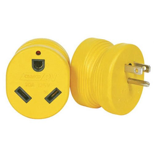 Camco 55223 15M/30F AMP PowerGrip Adapter