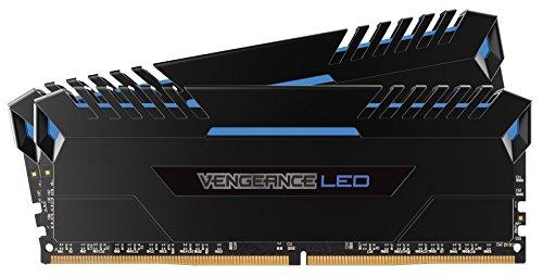 Blue LED PC Memory CMU16GX4M2C3200C16B – Corsair Vengeance LED 16GB 2x8GB DDR4 3200 PC4-25600 C16 for Intel 100