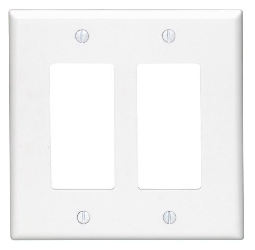 Leviton 5601-2W 15 Amp, 120/277 Volt, Decora Rocker Single
