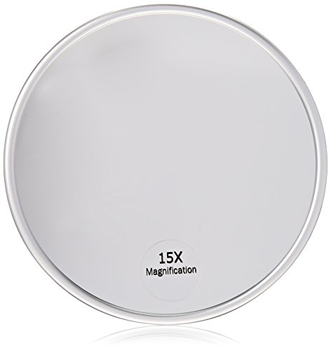 Harry D Koenig Co 15x Magnification Mirror With Suction Cup Round 5 Inch