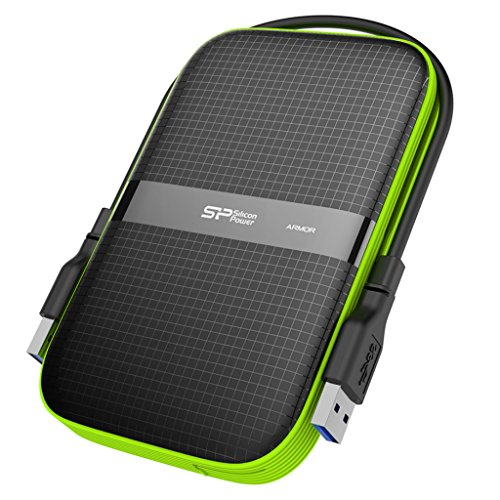 Silicon Power 1TB Rugged Armor A60 Shockproof / Water-Resistant 2.5-Inch USB 3.0 Portable External Hard Drive SP010TBPHDA60S3K