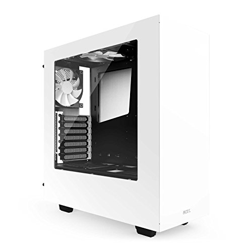 NZXT S340 Mid Tower Computer Case, White CA-S340W-W1