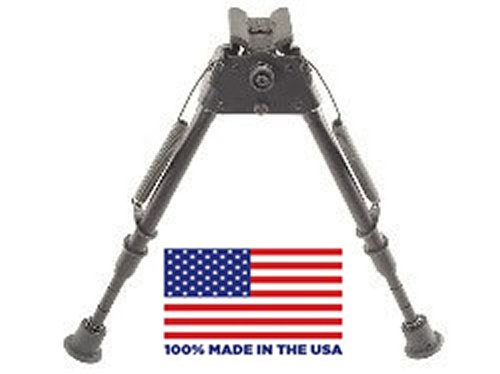 HBLMS Harris Bipod extends from 9″ to 13″ swivels, notched legs