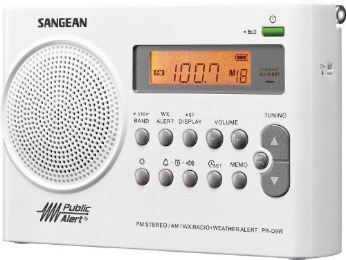 Black Sangean Pr D7 Bk Am Fm Digital Rechargeable