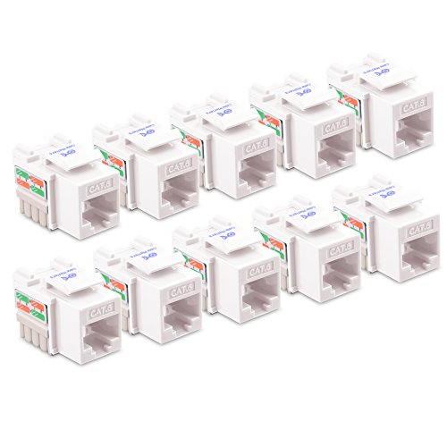 Cable Matters 10-Pack Cat6 RJ45 Punch-Down Keystone Jack in