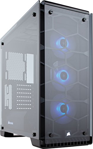 Tempered Glass, Premium ATX Mid-Tower Case Cases CC-9011098-WW – Corsair Crystal Series 570X RGB