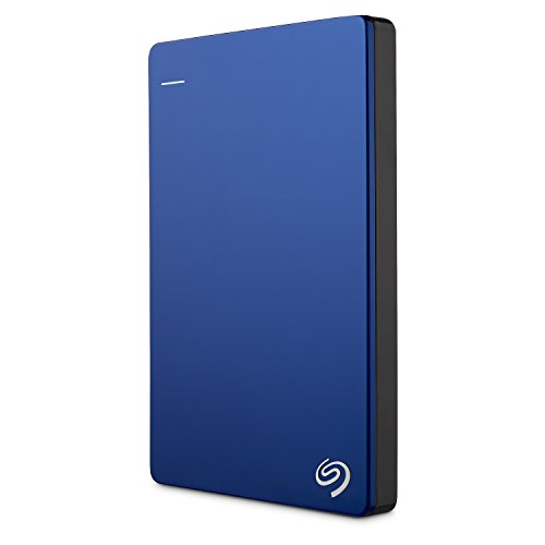 Seagate Backup Plus Slim 2TB Portable External Hard Drive USB 3.0, Blue STDR2000102