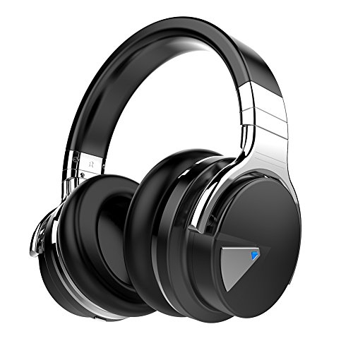 Black – Cowin E-7 Active Noise Cancelling Wireless Bluetooth Over-ear Stereo Headphones
