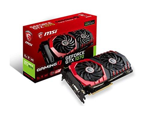 MSI Gaming GeForce GTX 1070 8GB GDDR5 SLI DirectX 12 VR Ready Graphics Card GTX 1070 GAMING X 8G