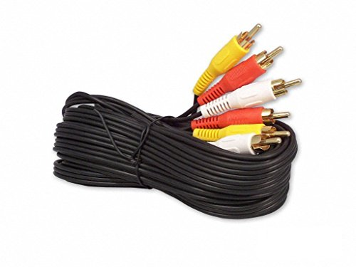 12FT RCA M/Mx3 Audio/Video Cable Gold Plated – Audio Video RCA Cable 12ft