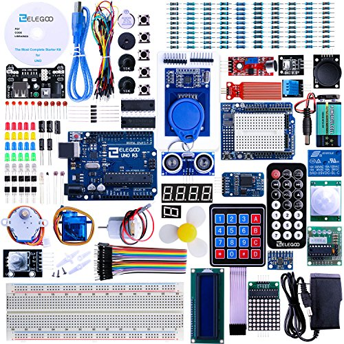 Elegoo UNO R3 Project Complete Starter Kit with Tutorial for Arduino 63 Items