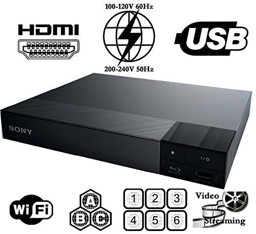 SONY BDP-S3700 High Res Audio – Multi System Region Free Blu Ray Disc DVD Player – Built-in WiFi