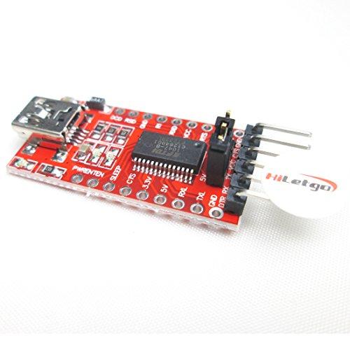 HiLetgo FT232RL FTDI USB to TTL Serial Converter Adapter Module for Arduino 3.3V 5.5V FT232R Breakout FT232RL USB to serial USB to TTL Adapter Board module