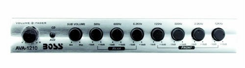 BOSS Audio AVA1210 7 Band Pre-Amp Half-DIN Car Equalizer, Subfoofer Output, Subwoofer Level Control
