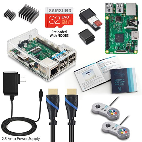 Vilros Raspberry Pi 3 RetroPie Arcade Gaming Kit with 2 Classic USB Gamepads