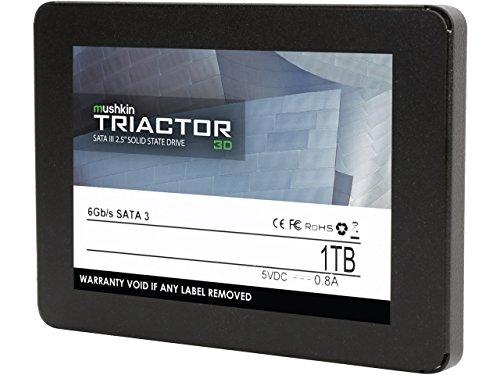 MKNSSDTR1TB-3D – SATA III – 1TB Internal Solid State Drive SSD – 6Gb/s – 2.5 Inch – 3D Vertical TLC – Mushkin TRIACTOR-3D – 7mm