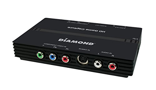 Diamond Multimedia USB 2.0 High Definition HD Video Capture Box with Component Video Loop-Through. Capture & Edit Your Games from Xbox 360 & PS3 GC500. For Windows 10, 8.1, 8, 7