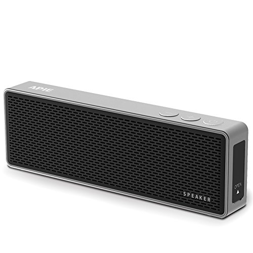 Apie Portable Wireless Bluetooth HI-FI Stereo Speaker Powerful Sound with Enhanced Bass Built-in Microphone Perfect for Car/Home/Office