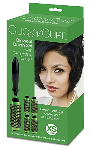 Click n Curl Blowout Brush Set with Detachable Barrels Full Set, X-Small