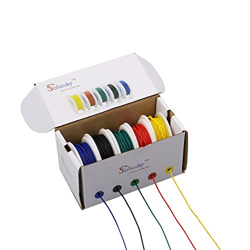 Striveday™ 18 AWG Flexible 1007 Wire Electric wire 18 gauge Coper Hook Up Wire 300V Cables electronic stranded wire cable electrics DIY BOX-1