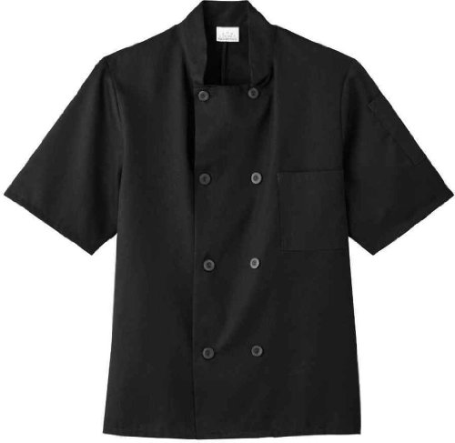 Five Star 18001 Adult's SS Chef Jacket Black XX-Large