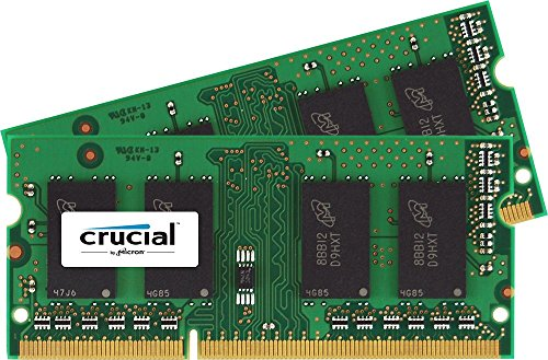 Crucial 16GB Kit 2 x 8GB DDR3L-1600 1600 MT/S SODIMM Memory for Mac CT2K8G3S160BM