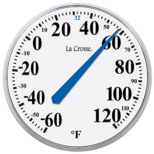 LaCrosse 104-114 Round Thermometer, 14″