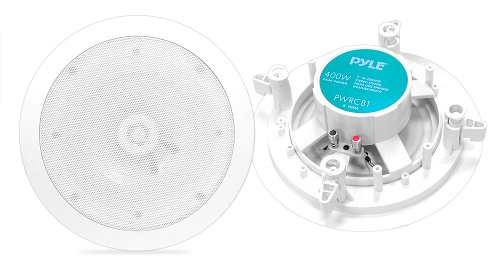 Pyle Home PWRC81 8-Inch Weather Proof 2-Way In-Ceiling / In-Wall Stereo Speakers Pair