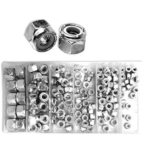 Neiko 50432A Nylon Lock Nut Assortment Kit with Carrying Case, 150 Pieces | SAE