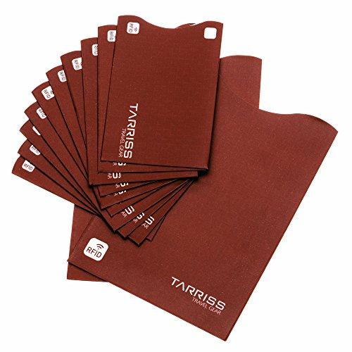 Extra Thin, 10 RFID Credit Card, 2 RFID Passport sleeves – RFID Blocking Sleeve