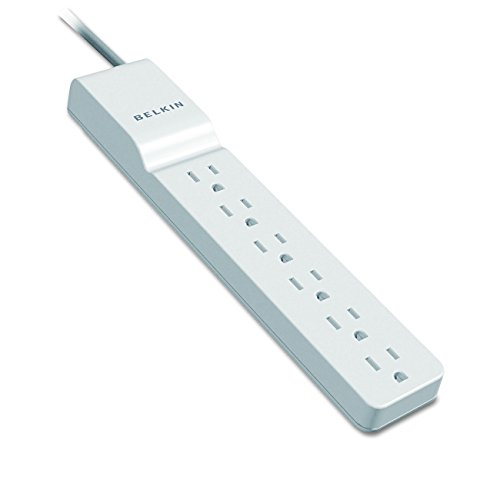 Belkin 6-Outlet Commercial Power Strip Surge Protector with 8-Foot Cord and Rotating Plug, 720 Joules BE106000-08R