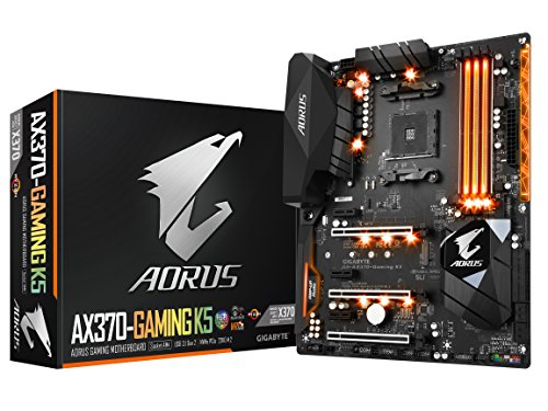 GIGABYTE AORUS GA-AX370-Gaming K5 AMD Ryzen AM4 X370 RGB FUSION SMART FAN 5 HDMI M.2 USB 3.1 Type-C ATX DDR4 Motherboard