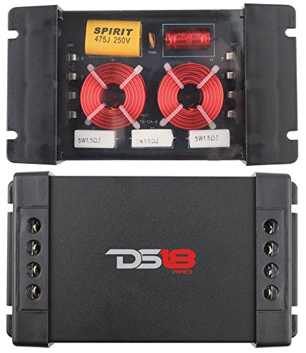 DS18 PRO-CFX Two-Way Passive Crossover 300W Car Audio Tweeter Mid Range Speaker 2 Pack