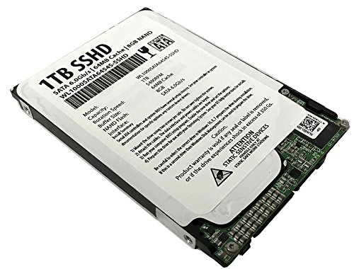 WL 1TB 64MB Cache + 8GB NAND SATA III 6.0Gb/s 2.5″ 7mm Slim SSHD Solid State Hybrid Drive – For Laptop, MacBook, PS4/PS3