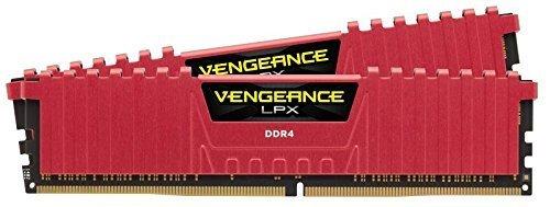 Corsair CMK16GX4M2A2133C13R Vengeance LPX 16GB 2x8GB DDR4 DRAM 2133MHz PC4-17000 C13 Memory Kit – Red