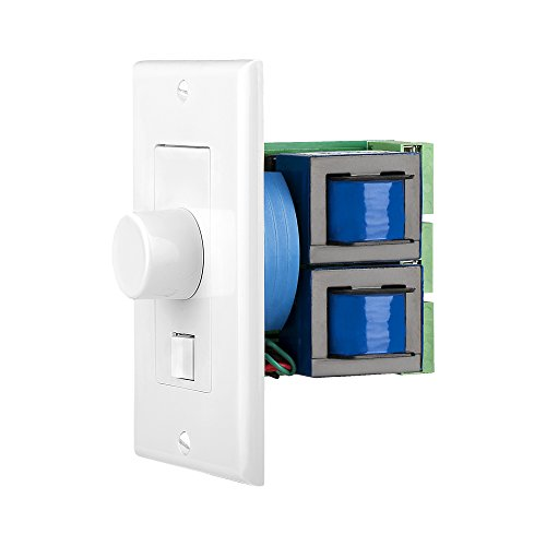 White, Ivory, Almond – SVC405 Impedance Matching 300W In-Wall Rotary Knob Style, A/B Switch Home Theater Speaker Volume Control Switchable Decora Plates – OSD Audio