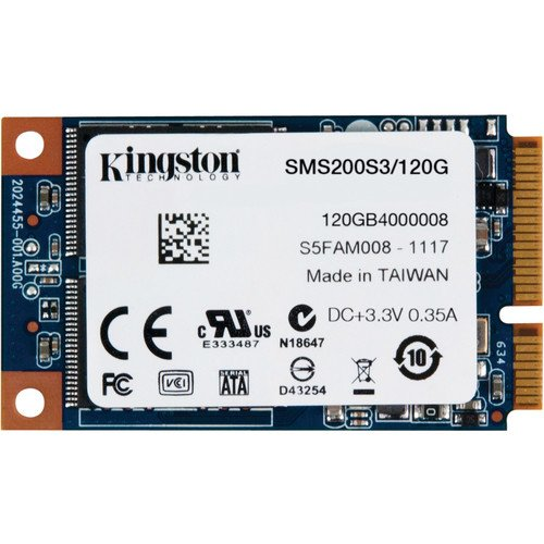 Kingston Digital 120GB SSDNow mS200 mSATA 6Gbps Solid State Drive for Notebooks Tablets and Ultrabooks SMS200S3/120G